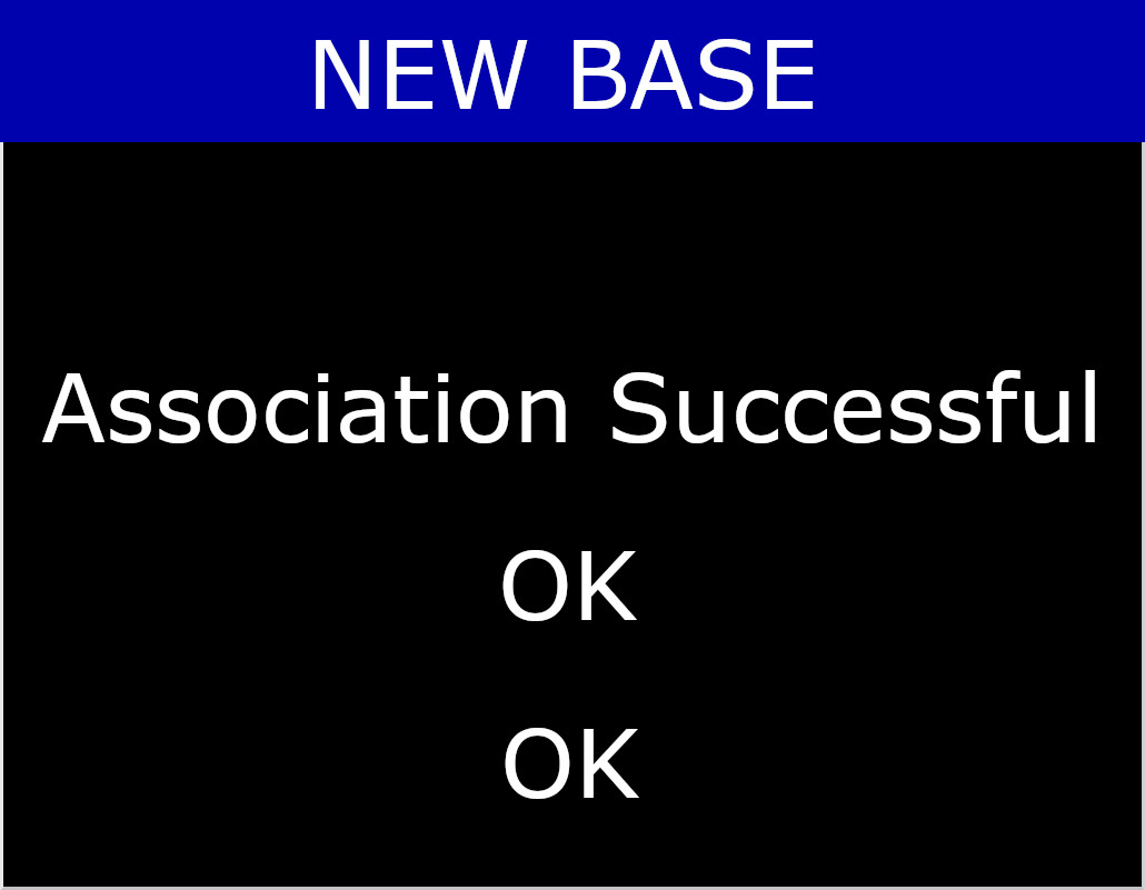 Base Association Successful